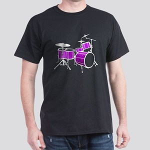 Cool Drum Set (purple version) Dark T-Shirt