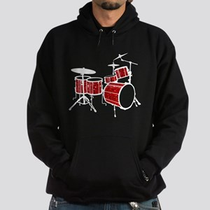 Cool Drum Set (red version) Hoodie (dark)