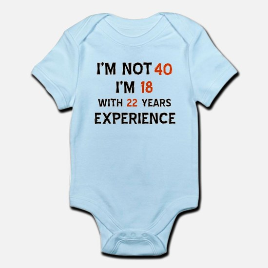 40 year old designs Infant Bodysuit