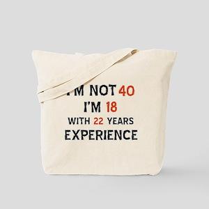 40 year old designs Tote Bag