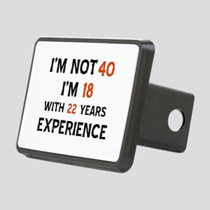 40 year old designs Rectangular Hitch Cover