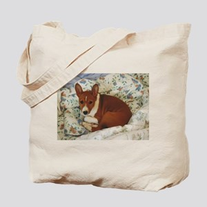 Cute Basenji Puppy Tote Bag