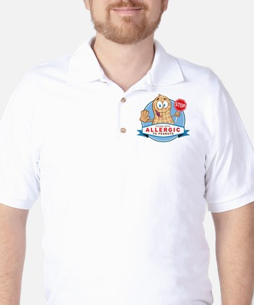 Allergic to Peanuts Golf Shirt