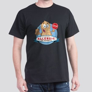 Allergic to Peanuts Dark T-Shirt