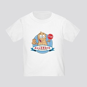 Allergic to Peanuts Toddler T-Shirt