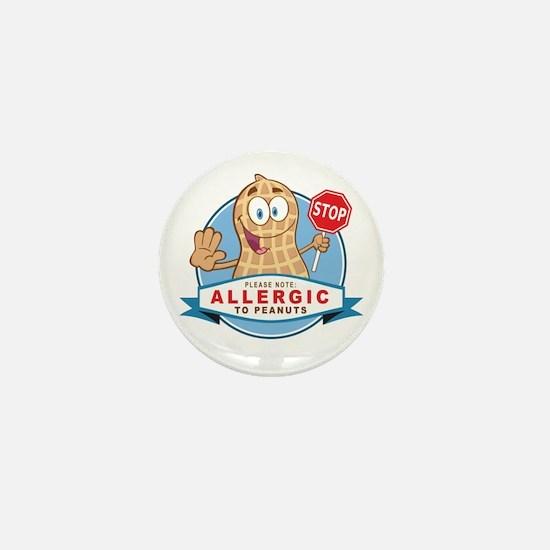 Allergic to Peanuts Mini Button (10 pack)