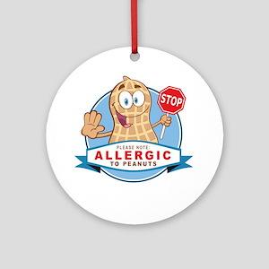 Allergic to Peanuts Ornament (Round)