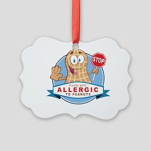 Allergic to Peanuts Picture Ornament
