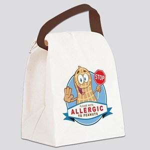 Allergic to Peanuts Canvas Lunch Bag