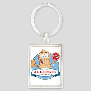 Allergic to Peanuts Portrait Keychain