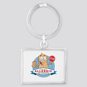 Allergic to Peanuts Landscape Keychain