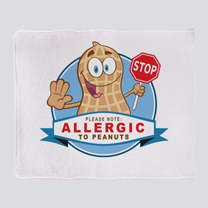 Allergic to Peanuts Throw Blanket