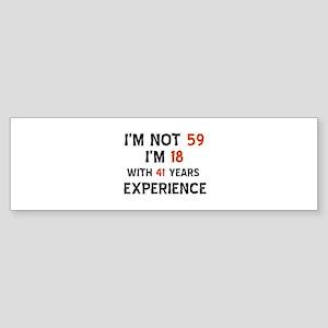 59 year old designs Sticker (Bumper)