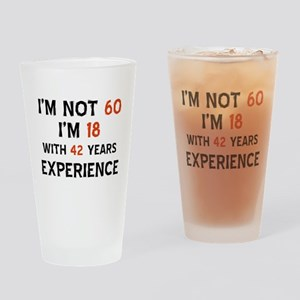 60 year old designs Drinking Glass