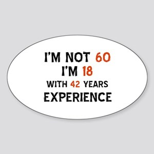 60 year old designs Sticker (Oval)