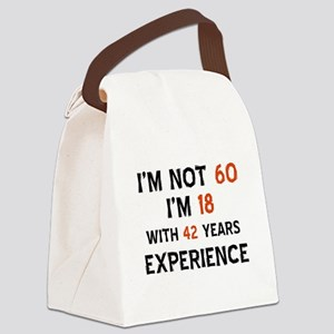 60 year old designs Canvas Lunch Bag