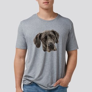 Blue Great Dane Dog Mens Tri-blend T-Shirt