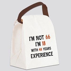 66 year old designs Canvas Lunch Bag