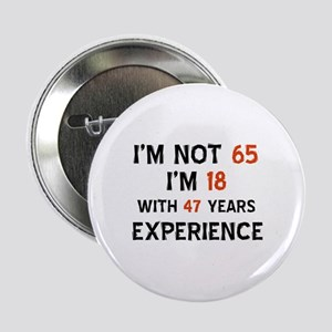 """65 year old designs 2.25"""" Button"""