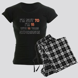 70 year old designs Women's Dark Pajamas