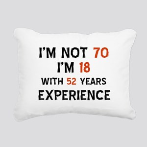 70 year old designs Rectangular Canvas Pillow