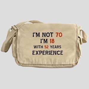 70 year old designs Messenger Bag