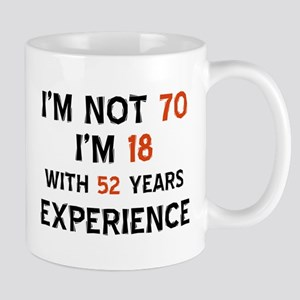 70th Birthday 70 Year Old Designs Mug