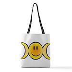Wiccan Emoji Polyester Tote Bag