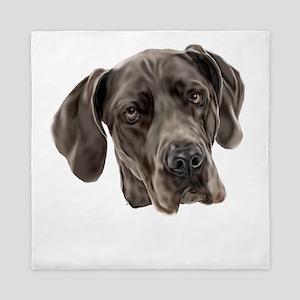 Blue Great Dane Dog Queen Duvet