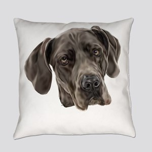 Blue Great Dane Dog Everyday Pillow