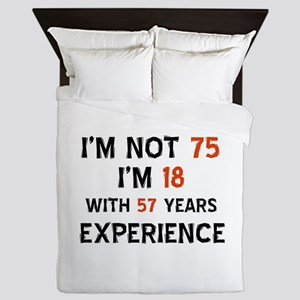 75 year old designs Queen Duvet