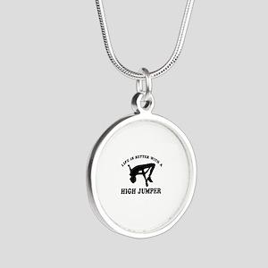 High Jumper Designs Silver Round Necklace
