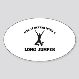 Long Jumper Designs Sticker (Oval)