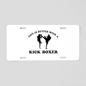 Kick Boxer Designs Aluminum License Plate
