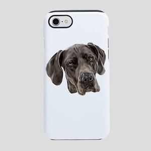 Blue Great Dane Dog iPhone 7 Tough Case
