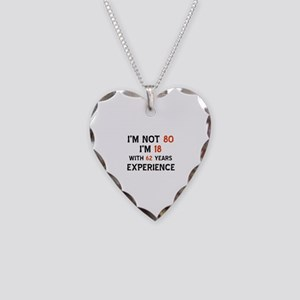 80 year old designs Necklace Heart Charm