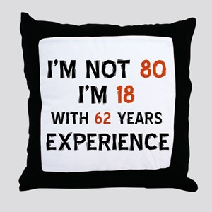 80 year old designs Throw Pillow