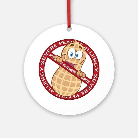 Severe Peanut Allergy Round Ornament
