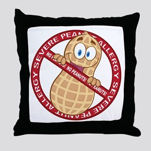 Severe Peanut Allergy Throw Pillow