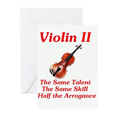Violin II Greeting Cards (Pk of 10)