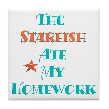 Homework Excuse Tile Coaster