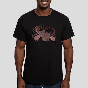 Hogs and Kisses Cute Piggies art T-Shirt