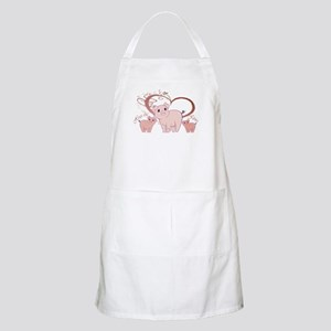 Hogs and Kisses Cute Piggies art Apron