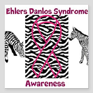 Ehlers Danlos Syndrome Awareness Square Car Magnet