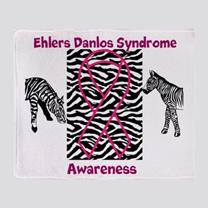 Ehlers Danlos Syndrome Awareness Throw Blanket