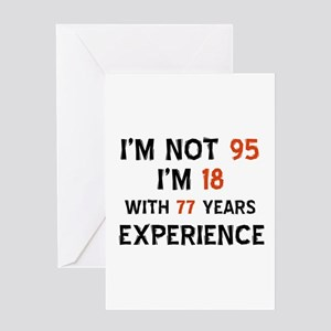 95 year old designs Greeting Card