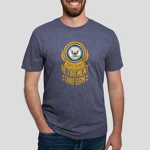 Navy Retirement Uniform Mens Tri-blend T-Shirt