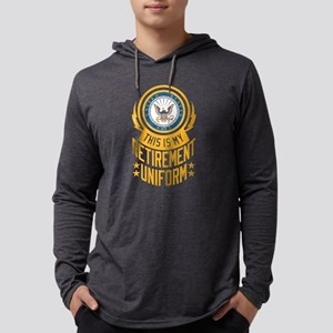 Navy Retirement Uniform Mens Hooded Shirt