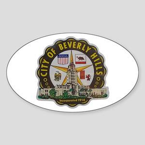 Beverly Hills California Oval Sticker