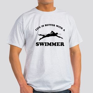 Swimmer Designs Light T-Shirt